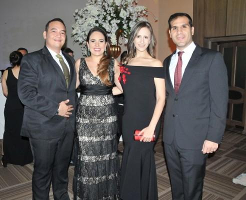 Francisco Hernández, Eugenia Díaz del Valle de Hernández, Amy Qubain de Faraj y Jorge Faraj