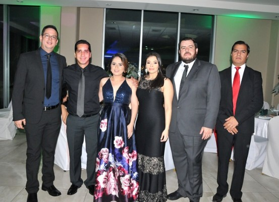 Fredy Andino, David Pineda, Jessy Castellón, María José Rivera, Gustavo Milla y Felix Suazo