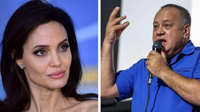"""Diosdado Cabello arremete contra Angelina Jolie por reunirse con refugiados venezolanos: """"Es una agente de la CIA"""""""