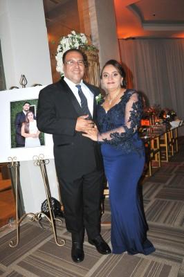 Los padres de la novia, Débora Rivera Flores y Martín Ramón Galo