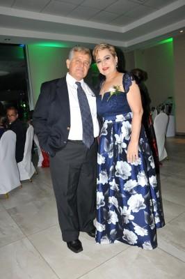 Los padres de la novia, José Tabueña y Lilian Saybe