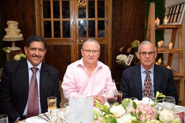 Rolando Verdial, Óscar Galeano y Mario Castillo