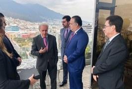 Calidonio se reúne con alcalde de Quito, Ecuador, para fortalecer alianzas estratégicas