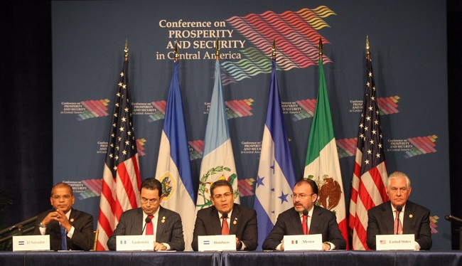 EEUU y México auspiciarán en forma conjunta la II Conferencia sobre Prosperidad y Seguridad en América Central
