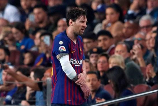 Leo Messi se lesiona el brazo derecho a una semana del clásico liguero