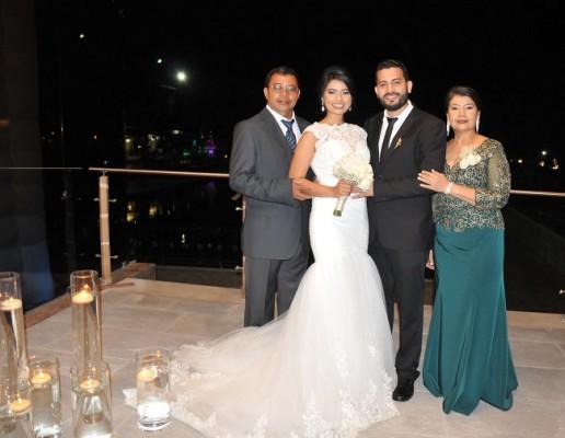 Ángel Enamorado y Sofía Avelar junto a sus padres, Orlando Avelar y Merari Laínez