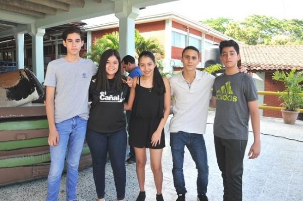 Alberto Ulloa, María Fernanda Sánchez, Angie Paz, Ramzy Perdomo y Pedro Segura