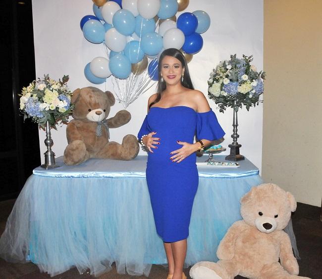 Lindos ositos de peluche inspiraron el baby shower de Andrea