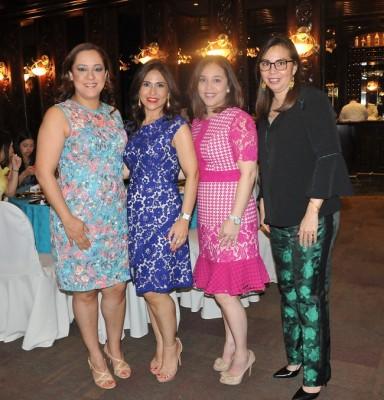 Catalina de Cisneros, Faride Jarufe, María del Carmen de Jarufe y Cristina Bustamante