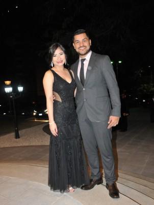 Cinthia y su esposo, Mario Escobar