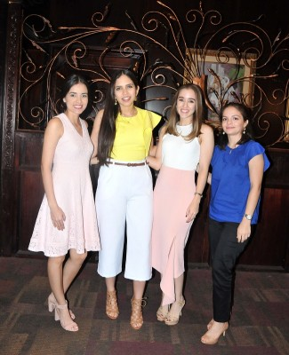 Gabriela Muñoz, Jessica de Echeverri, Laura Rodríguez y Georgina Hernández
