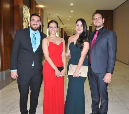 José Perdomo, Diana Valladares, Carmen de Perdomo y Jamil Perdomo