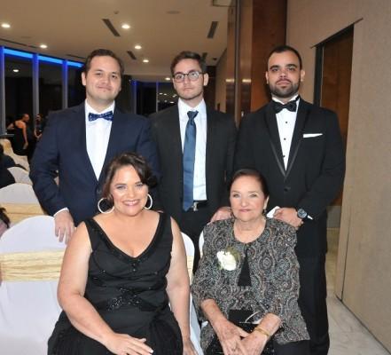 Juan Carlos Andrade, Alejandro Andrade, Marco Irías, Francis Wilson y Mariana Culotta