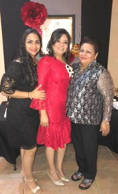 Marjorie Granados, Cindy Melisa y su madre, Silvia Granados.