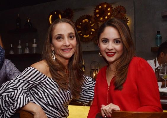 Berhard y Marcela Nazrala en la inauguración del nuevo Restaurante Pi Bistro Bar.