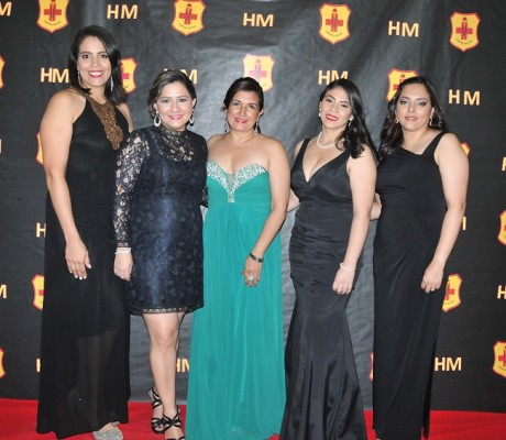 Rebeca Méndez, Dinora Paredes, Nineth Valle, Nansi Murillo y Gloria Rivas