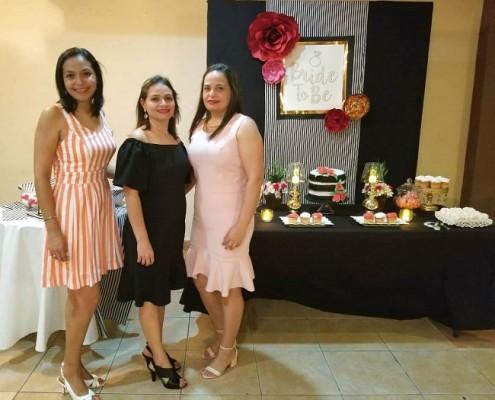 Wilda, Patricia y Rosa Cáceres
