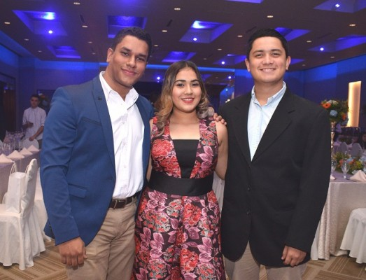 Axel Pineda, Rocío Fernández y Jacobo Gómez