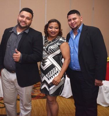 Bryan Ramírez, Lilian Murillo y Rubén Sabillón