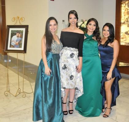 Carmen Salvadó, Daniela Delgado, Alba Delgado y Gaby Perdomo