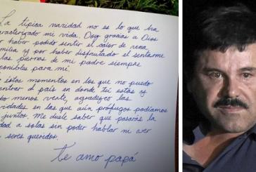 """Hija de """"El chapo"""" le envía emotiva carta por Navidad"""
