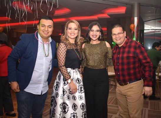 David Andrade, Norma Suazo, Katia Perdomo y Arturo Nolasco