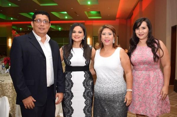 Edwin y Mayleen Arévalo, Celia Urrutia y Carolina Urrea