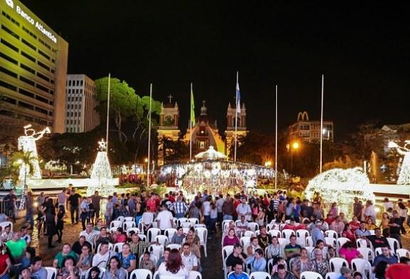 Llega al parque central de San Pedro Sula la magia de la Navidad