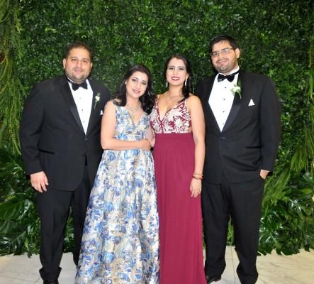 Fabricio Leiva, Alexandra Shelton, Mariana Mejía y Ramón Delgado