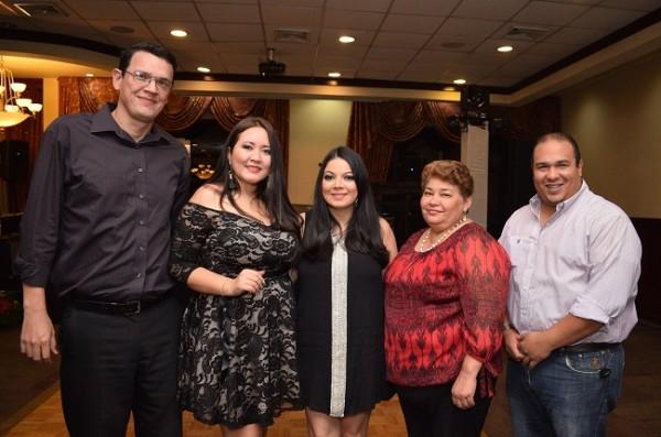 Federico Mejía, Jarlyn Tróchez, Graciela Araujo, Vilma Ramírez e Isaac Milla