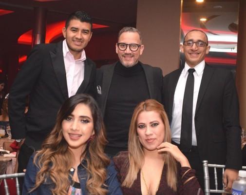 Gerson Benítez, Antonio Maldonado, Salvador García, Luz Madrid y Vanessa Mejía
