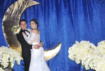 Giselle y Anuar: ¡feliz matrimonio en un escenario auténtico!