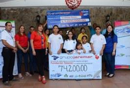 Grupo Jaremar entregó donativo por más de un millón de lempiras a la Teletón 2018
