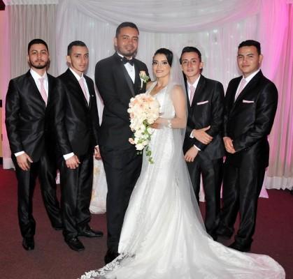 Jeydy Perdomo y Melvin Gavarrete junto a José Rivas, Kevin Perdomo, Ariel Perdomo y Jerson Perdomo