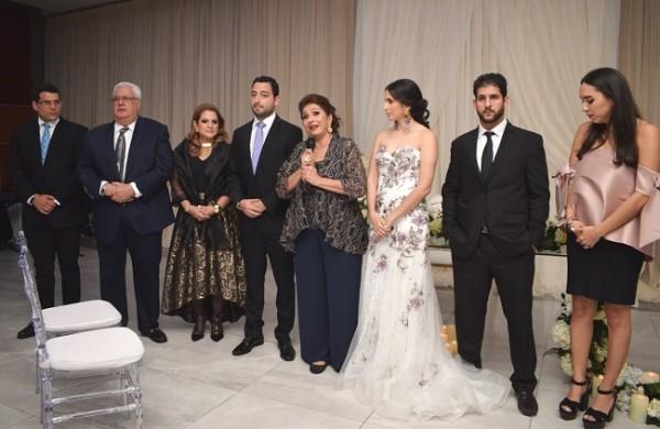 Las familias Bendeck-Zgheibra y Dieck-Zavala, brindaron por la felicidad de Daniella y David