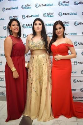 Lizeth Reyes, Delcy Serrano y Alejandra Orellana