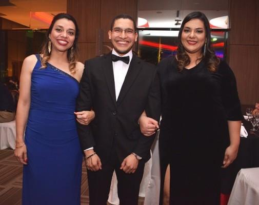 Luz Bueso, Diógenes Martínez y Lorna Reyes