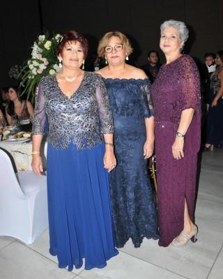 María Eugenia Oro, Mirna Martínez y Roxana de Barletta