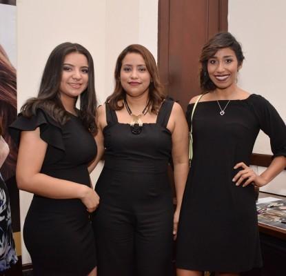 Mareily Caballero, Genie Caballero y Alejandra Aguilar,
