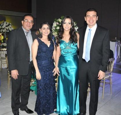 Ramses Vega, Ana Belinda Mata, Marcela de Ferraro y Melvin Ferraro