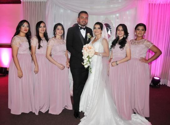 Sindy Paola Gavarrete, Ana Hernández, Indira Perdomo, Melvin Gavarrete, Jeydy Perdomo, Denia Rivera y Belkis Turcios
