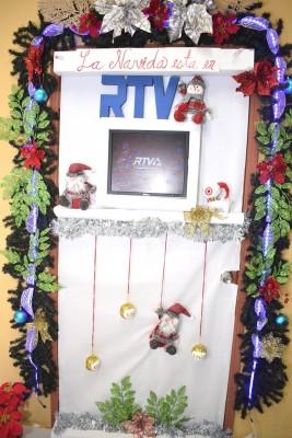 Un diseño totalmente alusivo al medio de comunicación crearon los colaboradores del Canal RTV