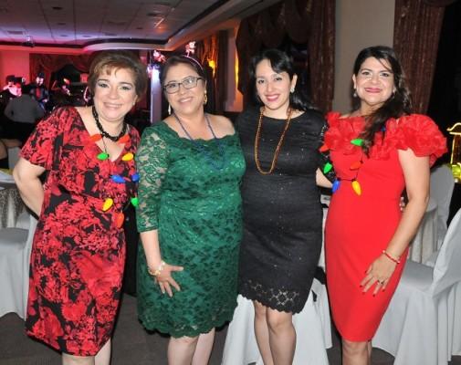Walquiria Ochoa, Meliza López, María Elena Licona y Lidia Membreño