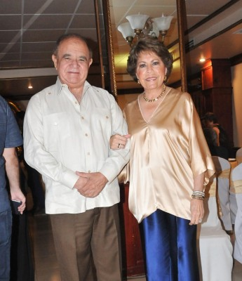 Alberto Díaz Lobo y su esposa, doña Nena