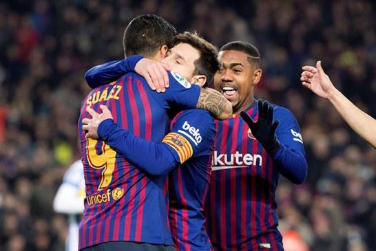 Barcelona en su séptima victoria consecutiva derrotó al Leganés 3-1 y se afianza en el liderato de La Liga
