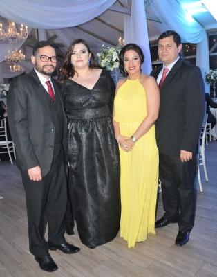 Celeo Aguilar, Celeste Reconco, Gina de Mencía e Ilich Mencía