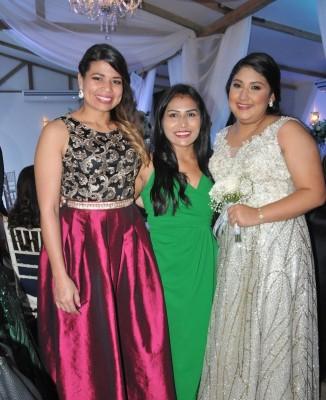 Daysi Huete, Lusby Mejía y Maite Portillo