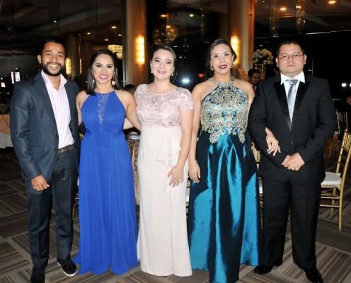 Elías Cruz, Neiba Ramírez, Alejandra Sabillón, Mabel Carías y Williams Rodríguez