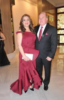 Jackie Dieck y su esposo, Afif Dieck