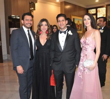 Jasser Handal, Noor Kafati, Fernando Bendeck y Sofía Bendeck
